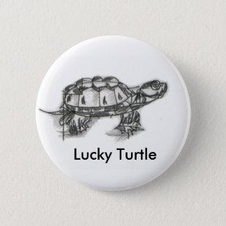 Badge Bouton chanceux de tortue