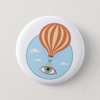 Badge Bouton chaud de ballon à air de globe oculaire