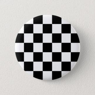 Badge Bouton Checkered de Ska de deux tons