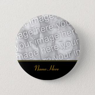 Badge Bouton commémoratif nommé customisé de photo