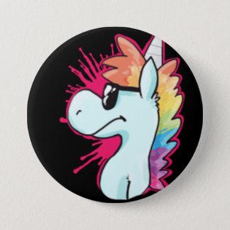 Badge Bouton d'agent de licorne