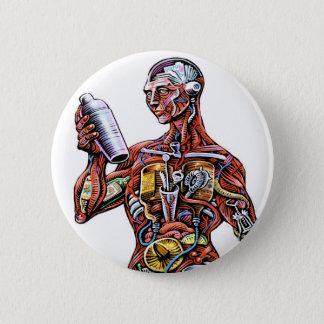 Badge Bouton d'anatomie de barman