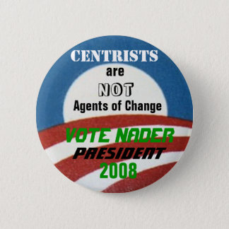 Badge Bouton d'Anti-Centriste de Nader