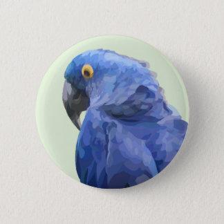 Badge Bouton d'ara de jacinthe
