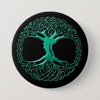 Badge Bouton d'arbre du monde de gaulthérie