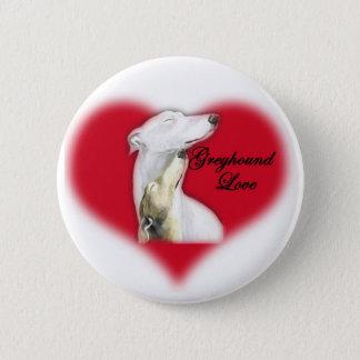 """Badge Bouton d'art de chien """"d'amour de lévrier"""""""