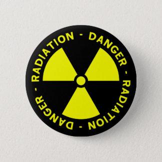 Badge Bouton d'avertissement de rayonnement