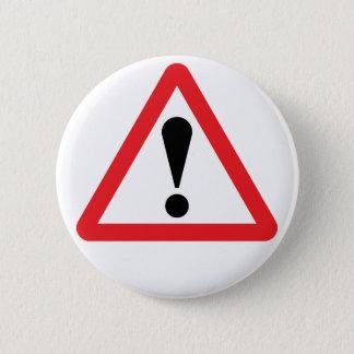 Badge Bouton d'avertissement européen de panneau routier