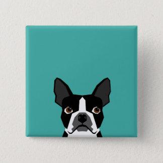Badge Bouton de Boston Terrier