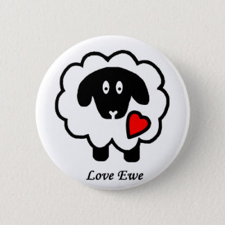 Badge Bouton de brebis d'amour
