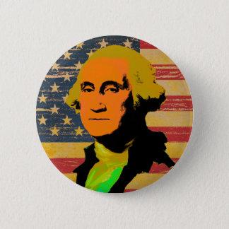 Badge Bouton de Bruit-Art de drapeau américain de George