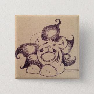 Badge Bouton de carré de lion d'Olin
