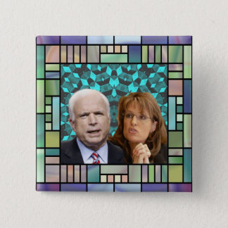 Badge Bouton de carré de mosaïque de McCain/Palin
