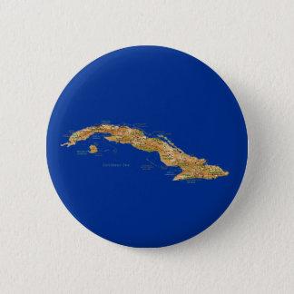Badge Bouton de carte du Cuba