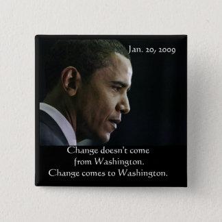 Badge Bouton de changement de Barack Obama