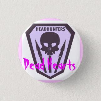 Badge Bouton de chasseurs de têtes - coeurs morts
