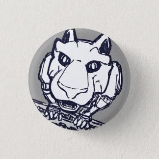 Badge Bouton de chat de robot de bibliothèque