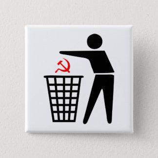 Badge Bouton de communisme de déchets