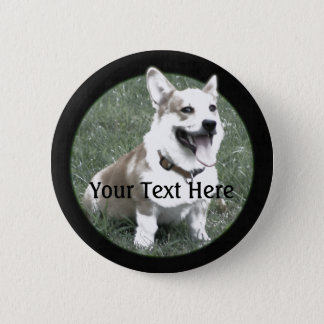 Badge Bouton de corgi