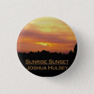 Badge Bouton de coucher du soleil de lever de soleil