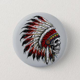 Badge Bouton de crâne de Natif américain