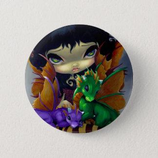 """Badge Bouton de """"deux Dragonlings mignon"""""""