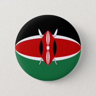 Badge Bouton de drapeau du Kenya Fisheye