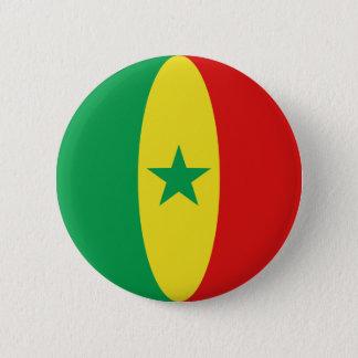 Badge Bouton de drapeau du Sénégal Fisheye