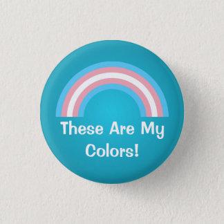 Badge Bouton de fierté d'arc-en-ciel de transsexuel