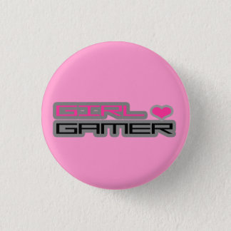 Badge Bouton de Gamer de fille