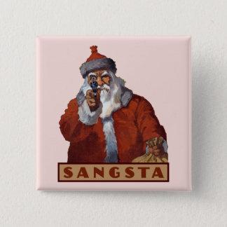 Badge Bouton de Gangsta Père Noël