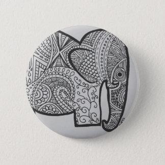 Badge Bouton de griffonnage d'éléphant