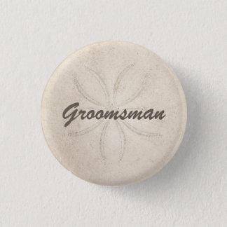 Badge Bouton de Groomsman de sérénité de plage