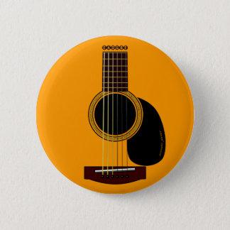 Badge bouton de guitare acoustique
