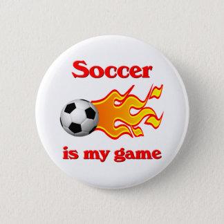 Badge Bouton de jeu de football avec du ballon de
