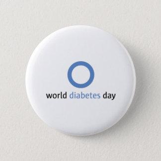 Badge Bouton de jour de diabète du monde