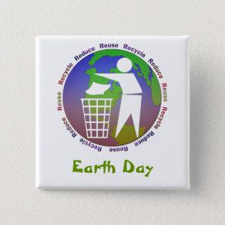 Badge Bouton de jour de la terre