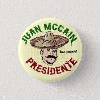 Badge Bouton de Juan McCain