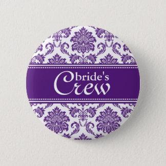 Badge Bouton de l'équipage d'orchidée de la jeune mariée