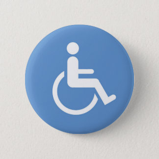 Badge Bouton de logo d'handicap