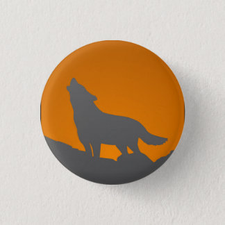 Badge Bouton de loup d'hurlement