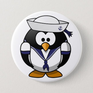 Badge Bouton de marin de pingouin