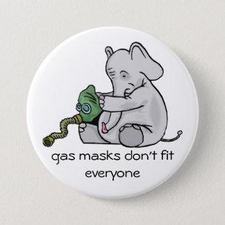 Badge Bouton de masques de gaz