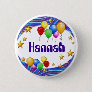 Badge Bouton de nom de ~ de ballons et d'étoiles