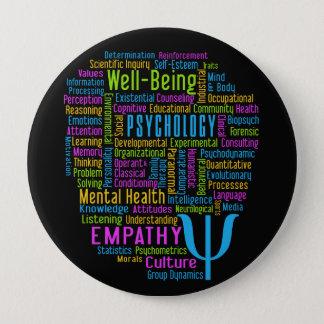 Badge Bouton de nuage de mot de PSYCHOLOGIE