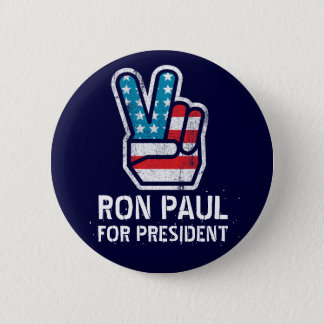 Badge Bouton de paix de Ron Paul