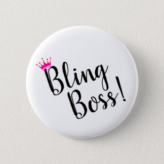 Badge Bouton de patron de Bling