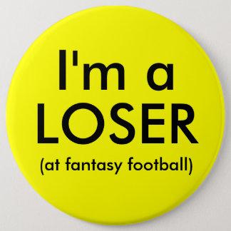 Badge Bouton de perdant du football d'imaginaire