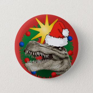 Badge Bouton de Pin d'insigne de Père Noël Dino de Noël