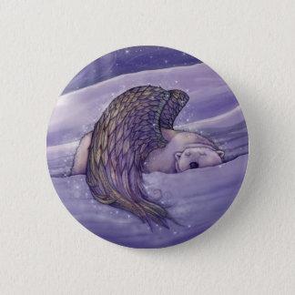 Badge Bouton de Pinback d'ours blanc d'ange